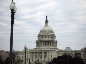 The U.S. Capitol Building, under an overcast sky