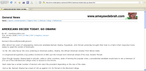 2008 AP Story proclaims Obama