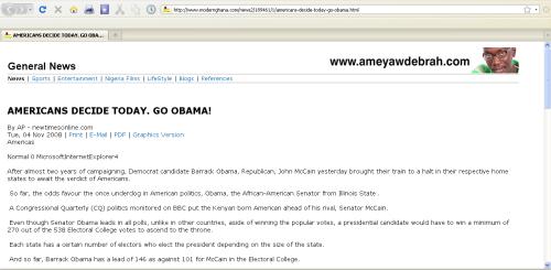 2008 AP Story proclaims Obama